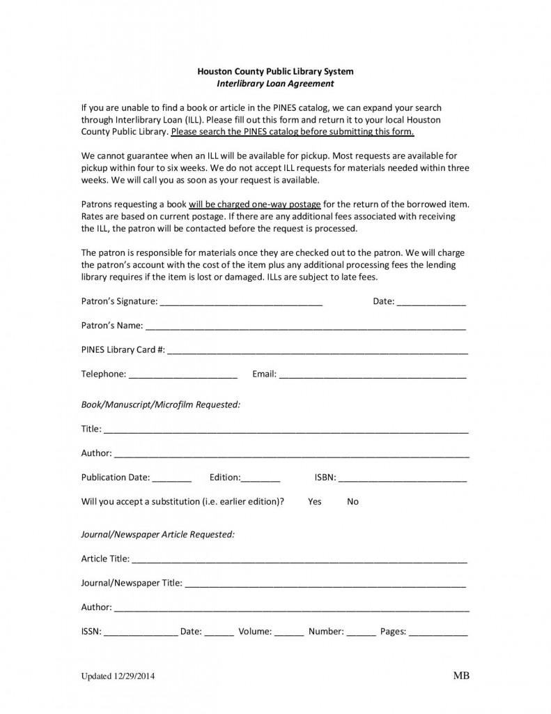 Interlibrary Loan Agreement