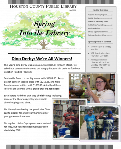 May 2016 Newsletter front page
